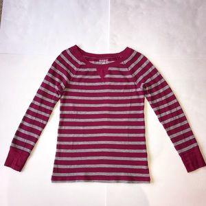 Old Navy women's medium pink gray thermal shirt